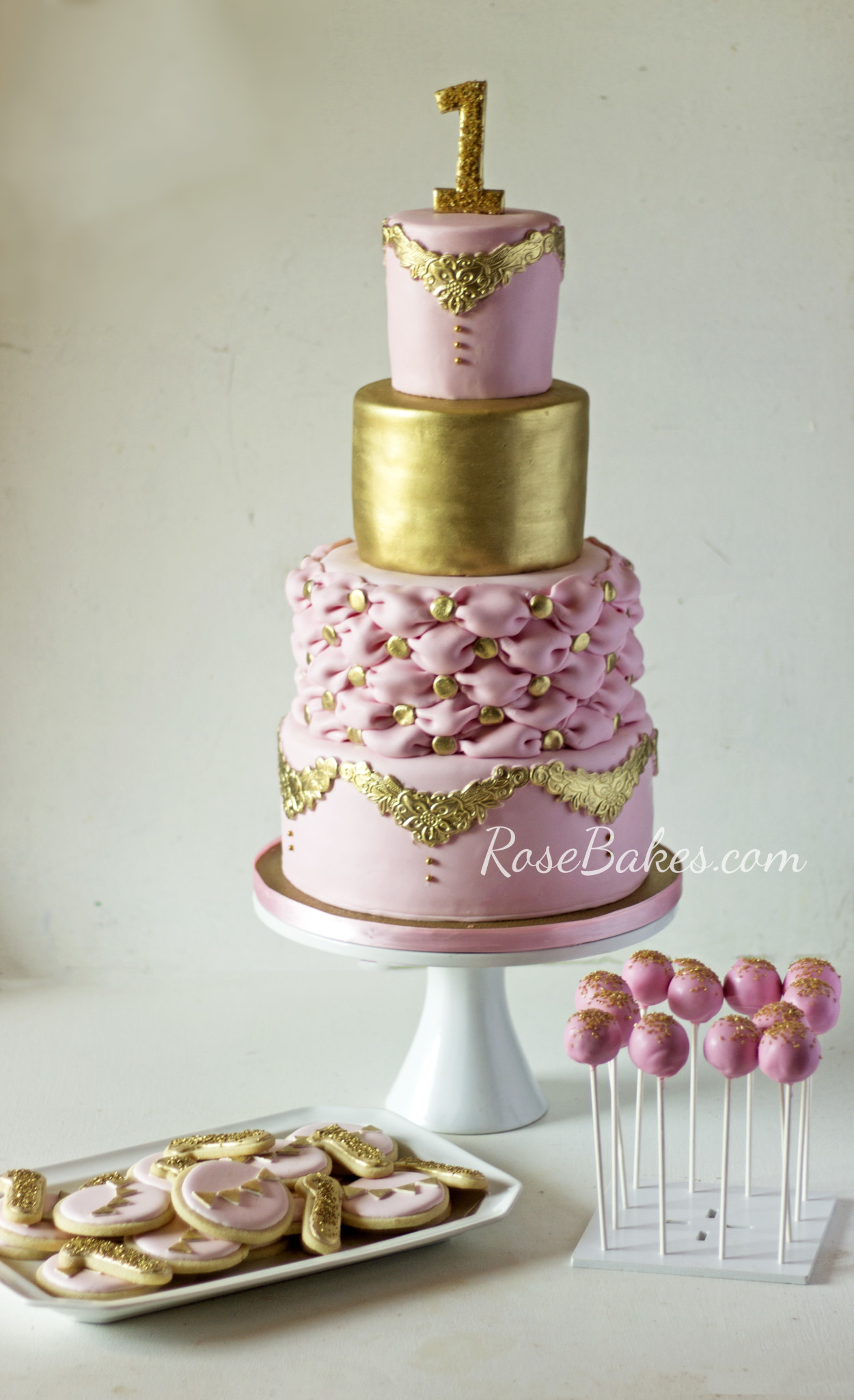 Princess Party Pink & Gold Dessert Table