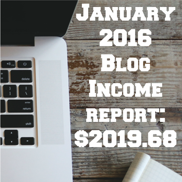 January Blog Income Report – $2019.68