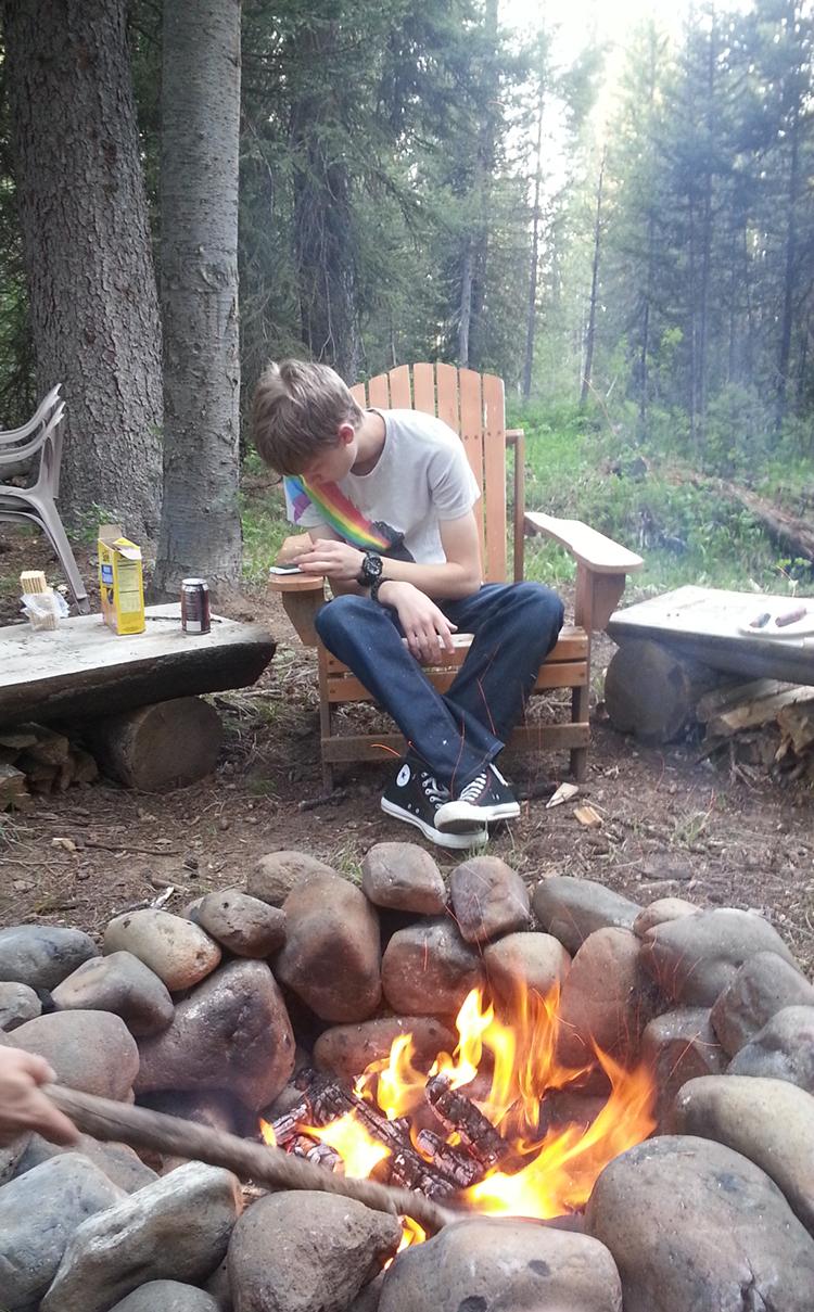 Joshua at Campfire