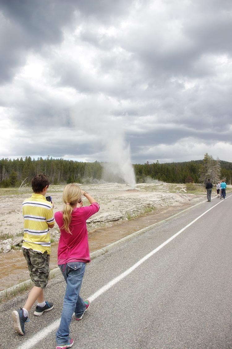 Kids at Yellowstone