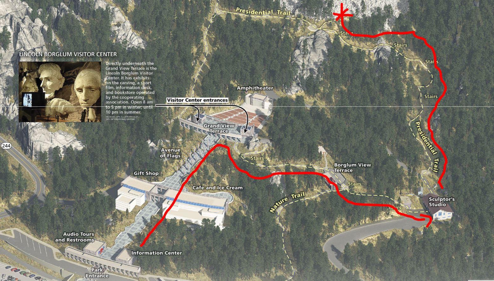 Mount Rushmore Map