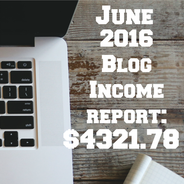 June 2016 Blog Income Report Square