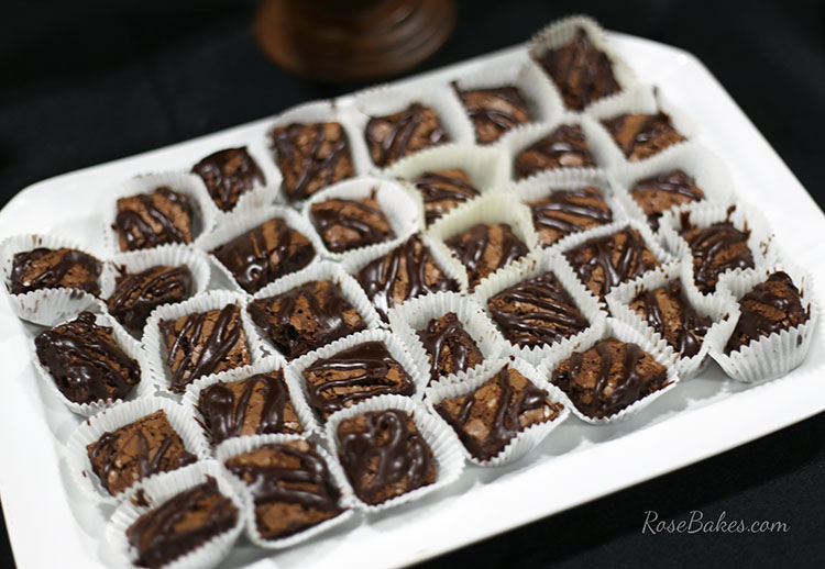 Brownie Bites with Ganache