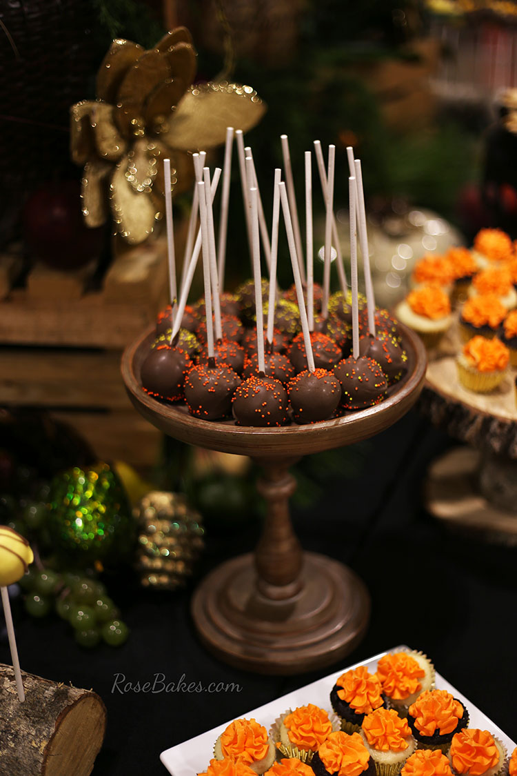 Fall Dessert Table Cake Pops