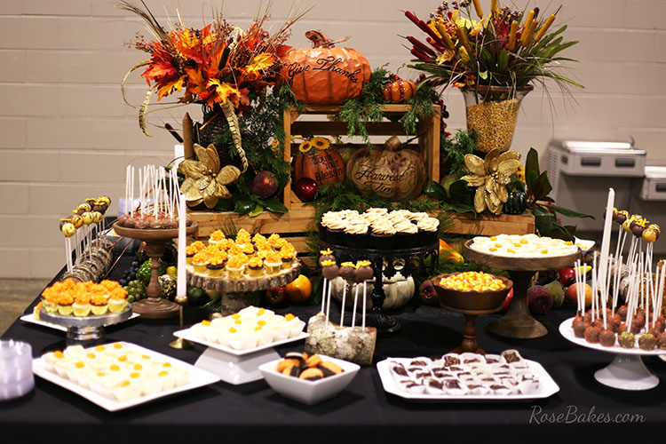 fall-dessert-table