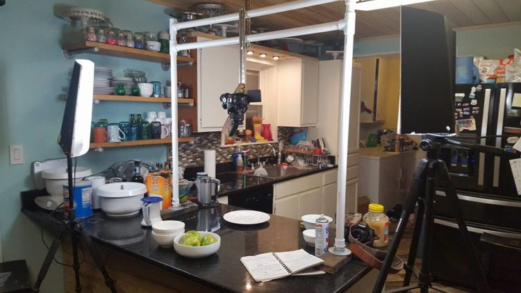 lights-and-cameras-set-up-in-kitchen-for-recipe-shoot