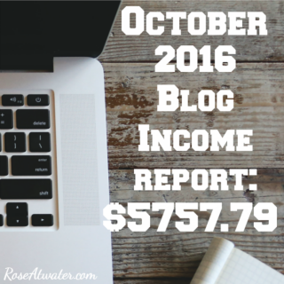October 2016 Blog Income Report