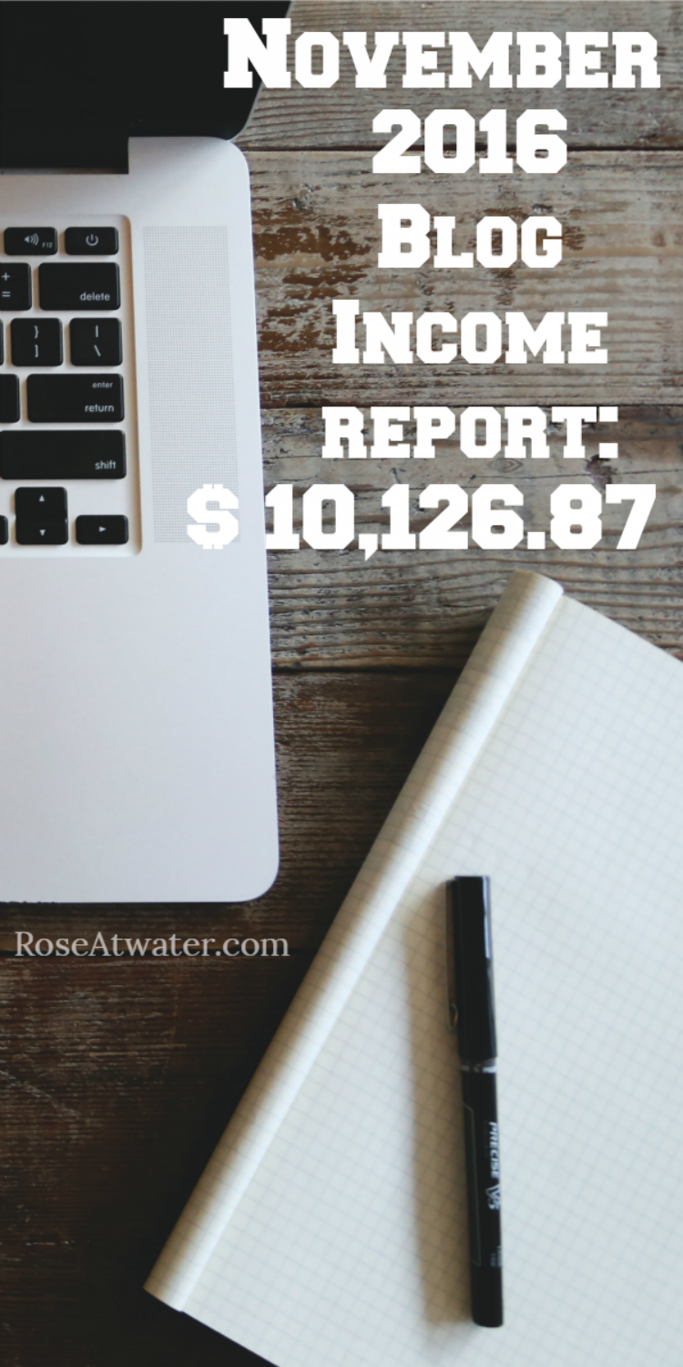 My biggest month EVER - I made over $10,000 blogging!! Click over to see my full report and how I did it! | RoseAtwater.com