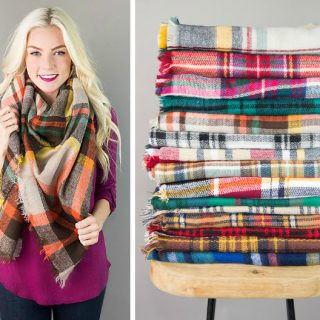Plaid Blanket Scarves – $12.95 & FREE Shipping!