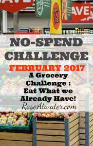 No-Spend Grocery Challenge {Day 1 – February 2017}